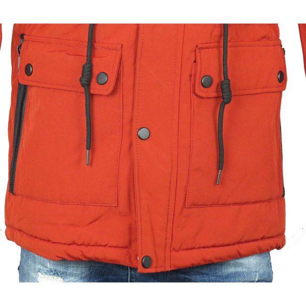 Privato AA 7803 Ανδρικό Παρκάς  Σκούρο Πορτοκαλί 7