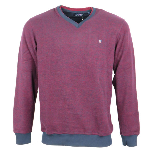 NEW YORK TAILORS 010.14 NELSON Ανδρικό Μπλουζάκι Μπορντό 3