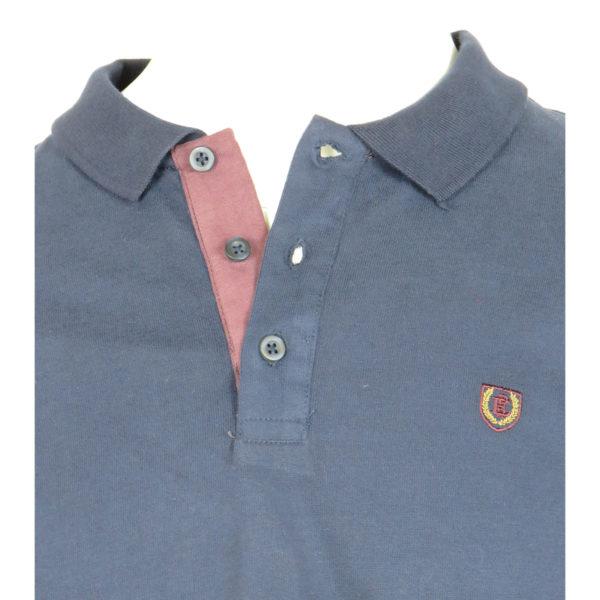 Pre End 22-100219 Ανδρικό Μπλουζάκι Πόλο Μπλέ 4