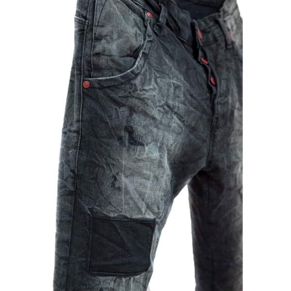 Profil 2038 Ανδρικό Παντελόνι Τζίν Μαύρο 6