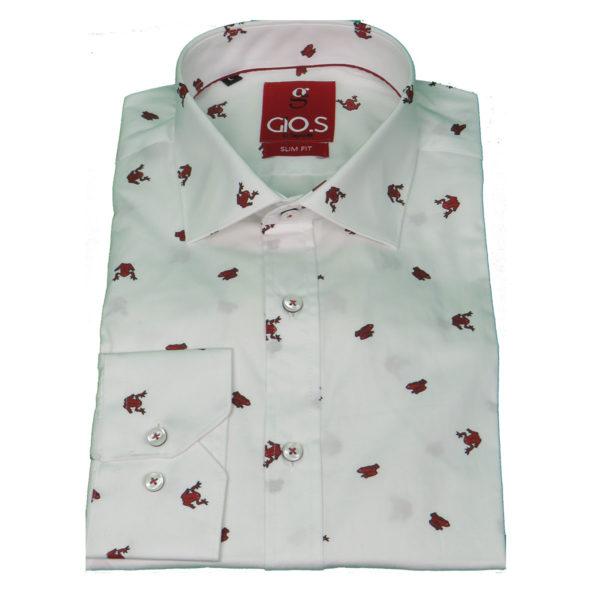 GIO'S 9023-17G Ανδρικό Πουκάμισο Λευκό 3