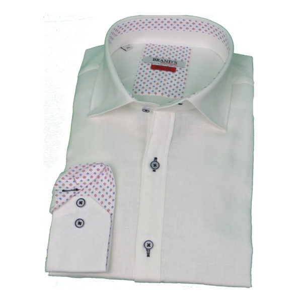 Brand's 200 Ανδρικό Πουκάμισο Λευκό 3