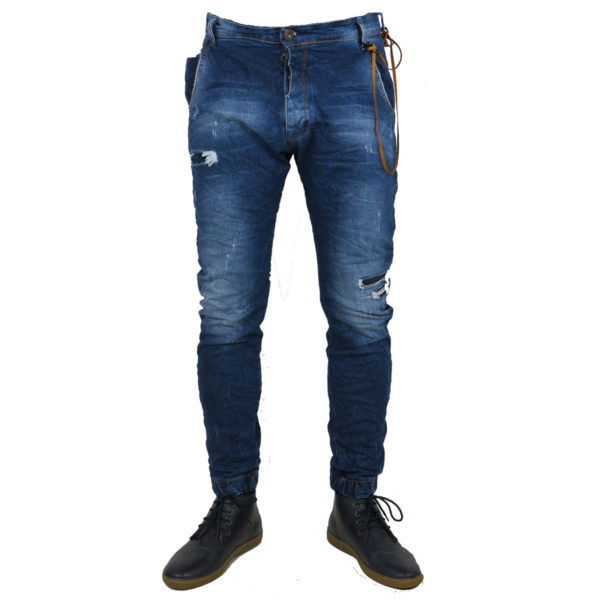 Back 2 Jeans Β6G Ανδρικό Τζήν Παντελόνι Μπλέ 5