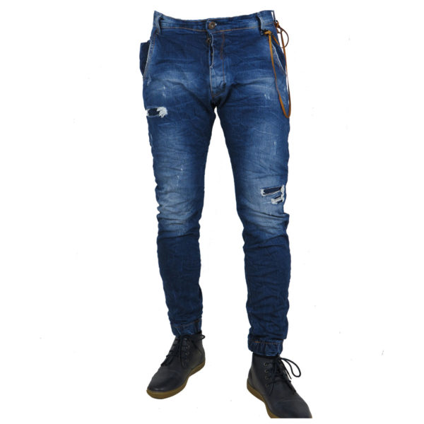 Back 2 Jeans Β6G Ανδρικό Τζήν Παντελόνι Μπλέ 3
