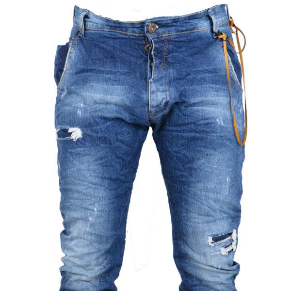 Back 2 Jeans Β6G Ανδρικό Τζήν Παντελόνι Μπλέ 8