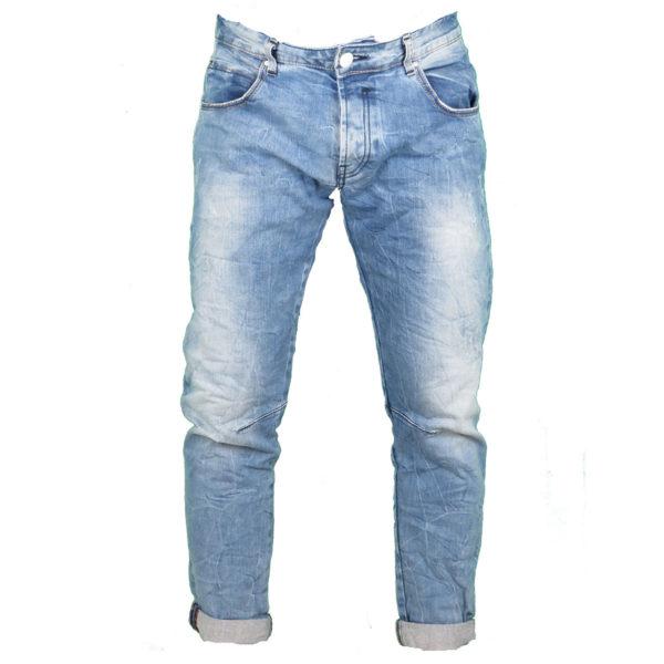 Back 2 Jeans Β4 Slim Ανδρικό Τζίν Παντελόνι Μπλέ 3