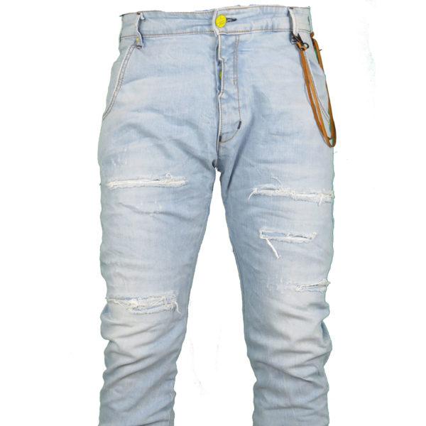 Back 2 Jeans B6 F Ανδρικό Τζήν Παντελόνι Μπλέ 5