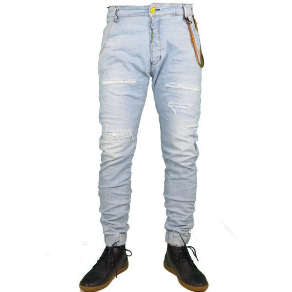 Back 2 Jeans B6 F Ανδρικό Τζήν Παντελόνι Μπλέ 3