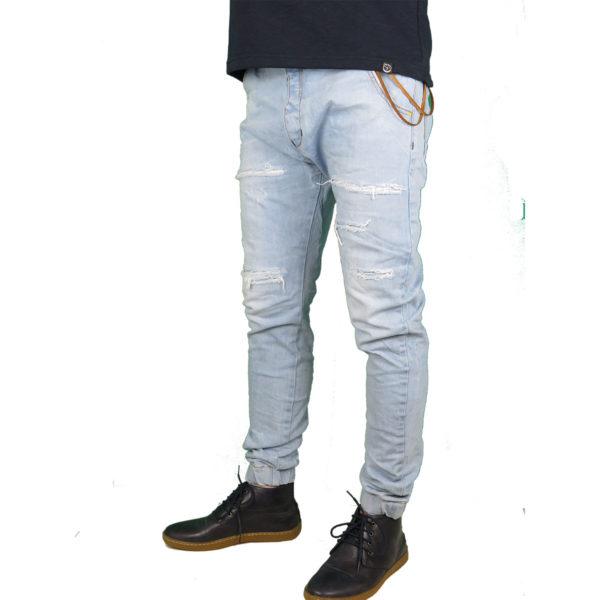 Back 2 Jeans B6 F Ανδρικό Τζήν Παντελόνι Μπλέ 4