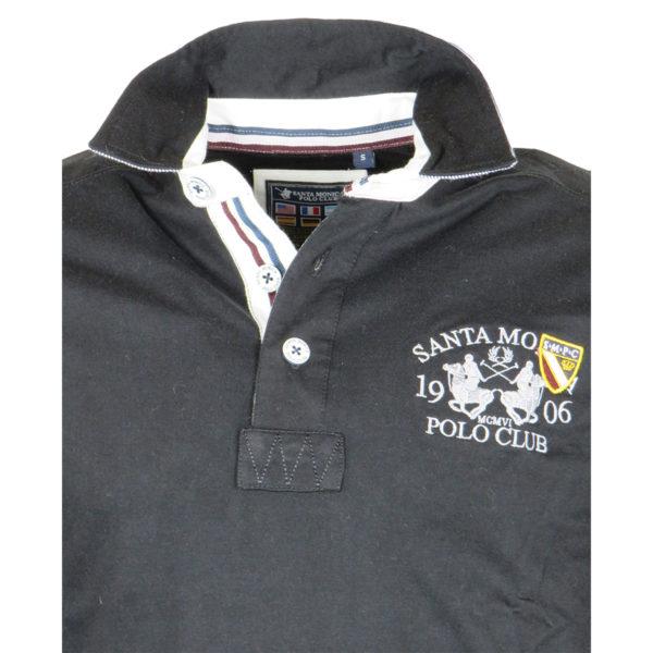 Santa Monica Polo Club Μ606517C Ανδρικό Πόλο Μαύρο 8