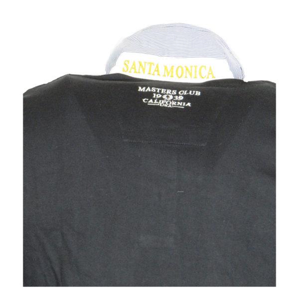 Santa Monica Polo Club Μ606517C Ανδρικό Πόλο Μαύρο 6