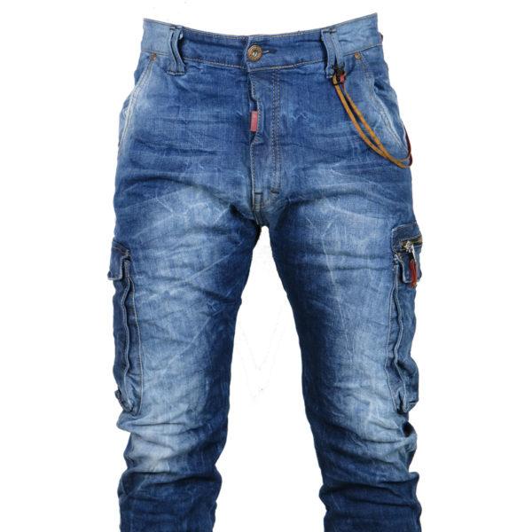 Back 2Jeans B12 Ανδρικό Τζίν Μπλέ 7