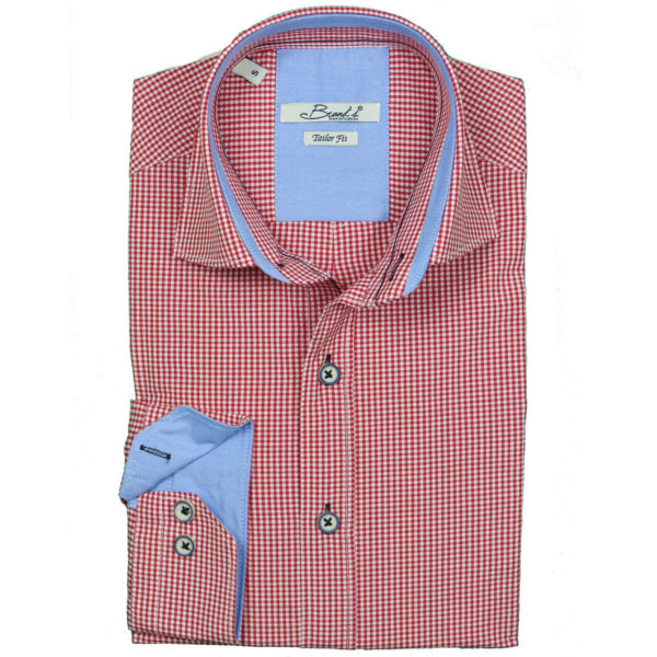 Brands 01-605 Ανδρικό Πουκάμισο Κόκκινο 3