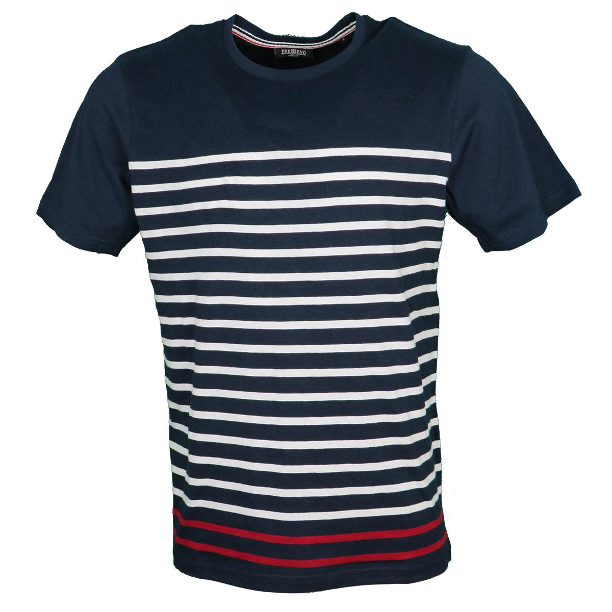 82d0740b15e Pre End 28-100243 Ανδρικό Μπλουζάκι Μπλέ 7050 - Privato