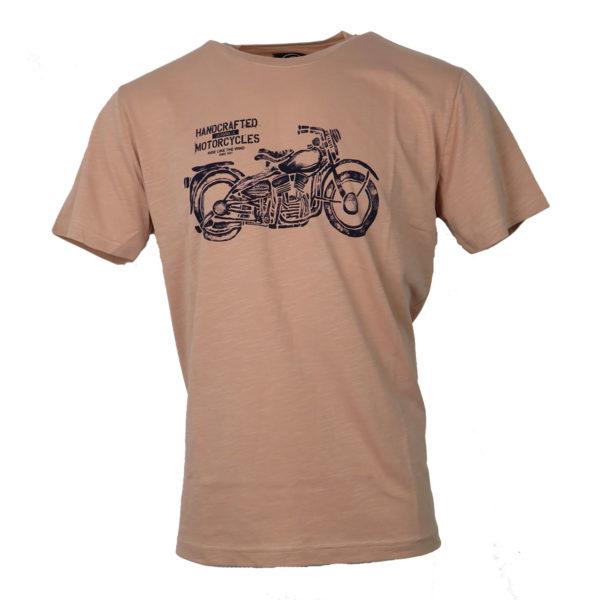 Cotton 4All 730 Ανδρικό Μπλουζάκι Σομόν 3