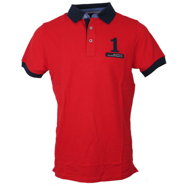 NEW YORK TAILORS 011.15 Point Ανδρικό Μπλουζάκι Κόκκινο 3