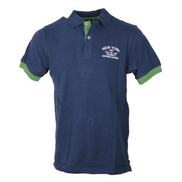 NEW YORK TAILORS 011.15.South Ανδρικό Μπλουζάκι Μπλέ 3