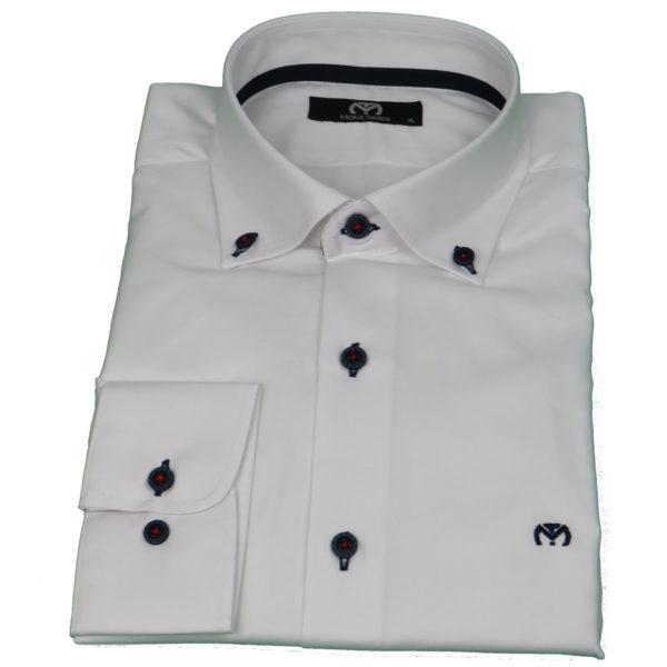 Makis Tselios TC501B43683 Ανδρικό Πουκάμισο Λευκό 4