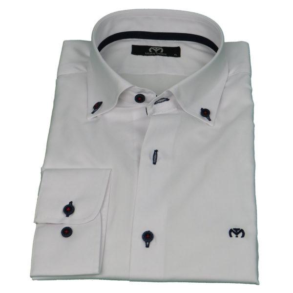 Makis Tselios TC501B43683 Ανδρικό Πουκάμισο Λευκό 3