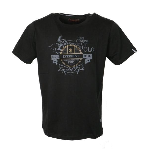 Everbest 19107 Ανδρικό Μπλουζάκι Μαύρο 3