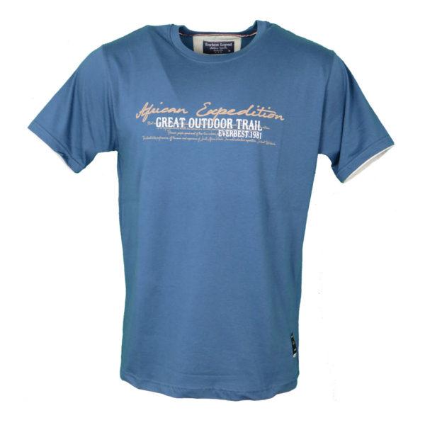 Everbest 19108 Ανδρικό Μπλουζάκι Ίντιγκο 4
