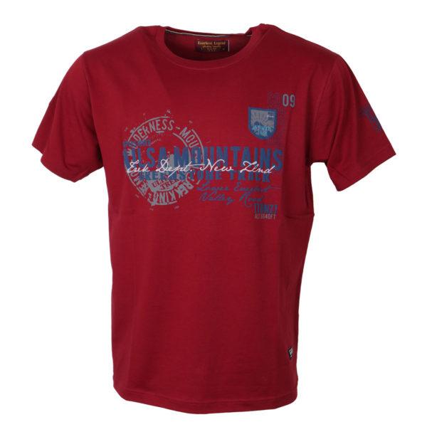 Everbest 19112 Ανδρικό Μπλουζάκι Κόκκινο 3