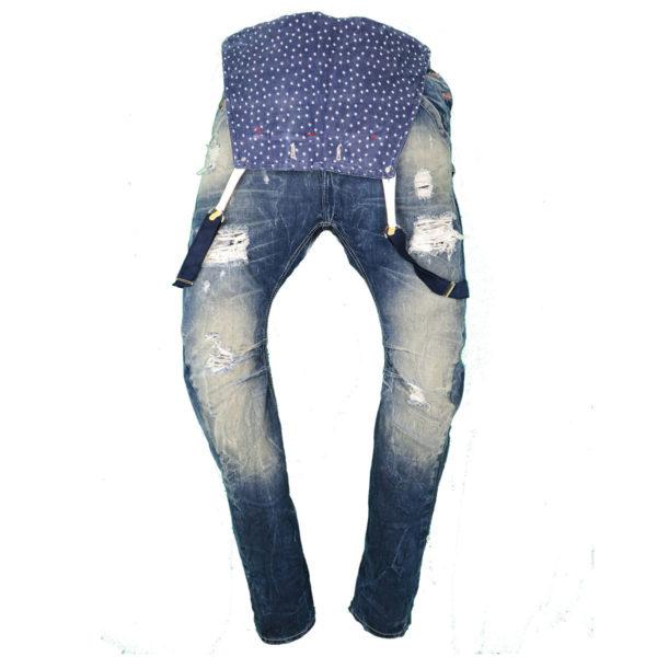 New Denim 1162 Ανδρικό Παντελόνι Μπλε 3