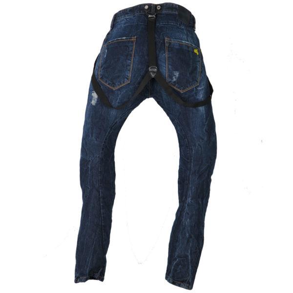New Denim 1212 Ανδρικό Παντελόνι Μπλε 4