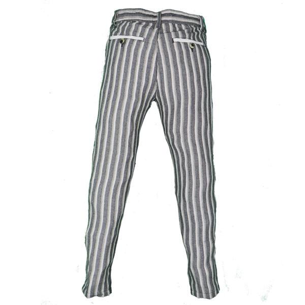 Privato PA2025  Ανδρικό Παντελόνι Ασπρόμαυρο 4