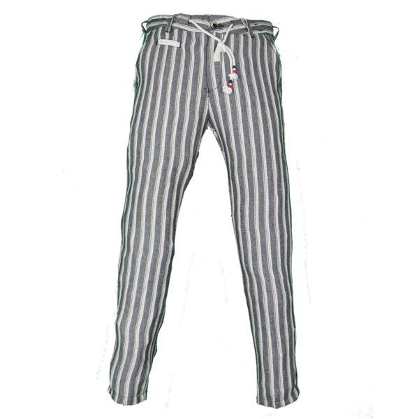 Privato PA2025  Ανδρικό Παντελόνι Ασπρόμαυρο 3