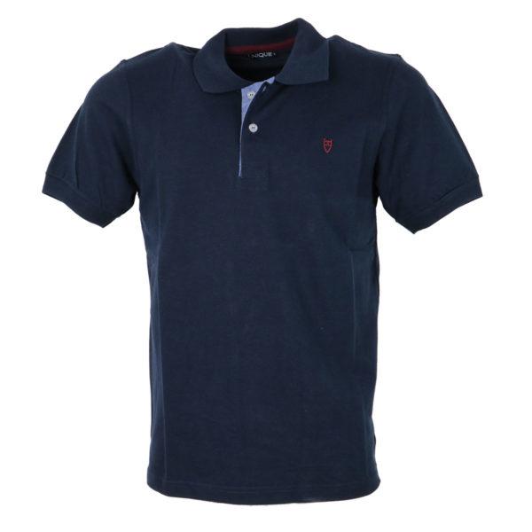 Unique 401Κ Ανδρικό Μπλουζάκι Πόλο Μπλέ 3