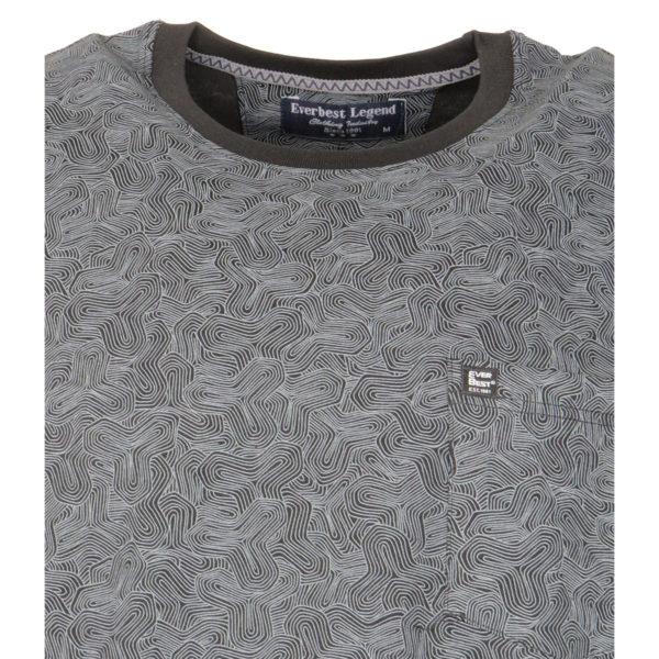 Everbest 19102 Ανδρικό Μπλουζάκι Μαύρο 5