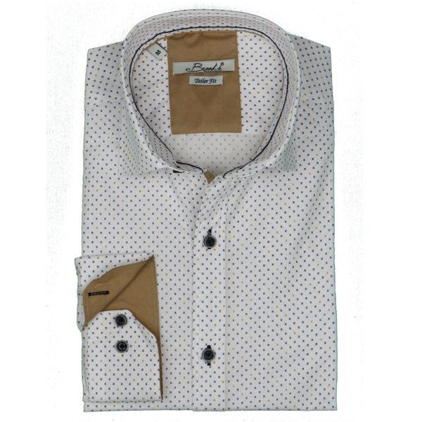 Brands 601 Ανδρικό Πουκάμισο Λευκό 3