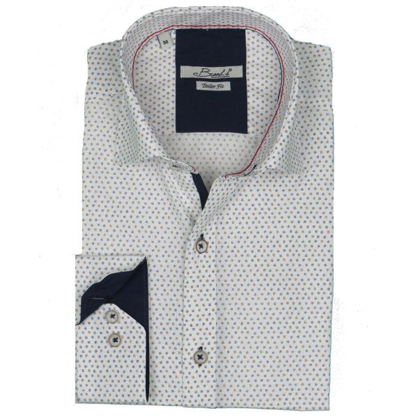 Brand's 602 Ανδρικό Πουκάμισο Λευκό 3
