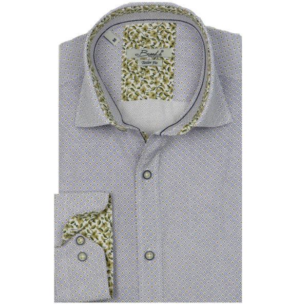 Brand's 701 Δ Ανδρικό Πουκάμισο Λευκό 3