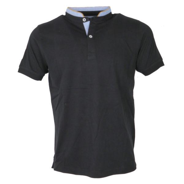 NEW YORK TAILORS 011.15.BRAVOS 9 BLACK Ανδρικό Μπλουζάκι Μαύρο 3