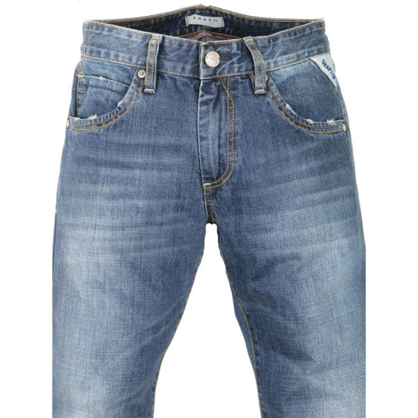 SHAFT DM770 Ανδρικό Παντελόνι Μπλε 5
