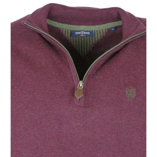 Pre End 21-100422 8510 Ανδρικό Μπλουζάκι Μπορντό 4