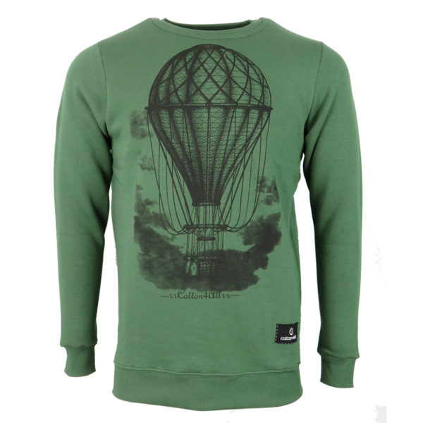 Cotton 4 All 20-831 Ανδρική Μπλούζα Πράσινη 3