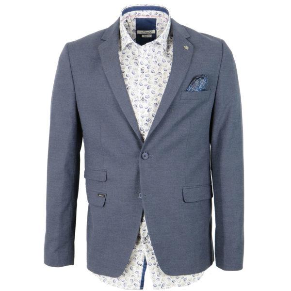 ENDESON 9550 Ανδρικό Σακάκι Μπλε Ραφ 3