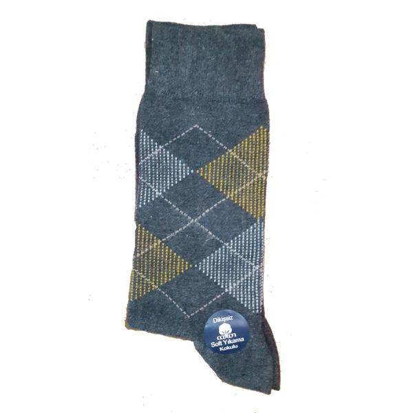 PRIVATO Ρόμβοι Ανδρικές Κάλτσες Γκρι 3