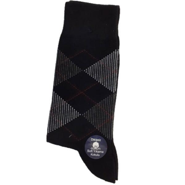 PRIVATO Ρόμβοι Ανδρική Κάλτσα Μαύρη 3