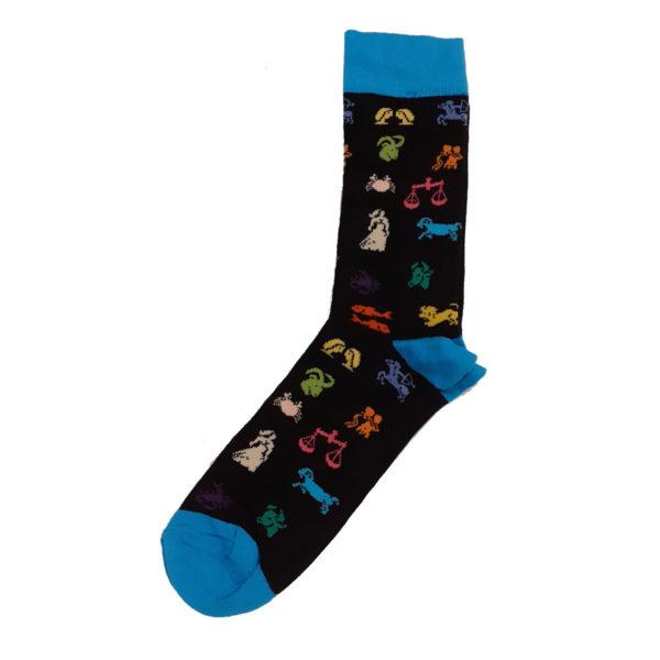 PRIVATO Ζώδια Ανδρική Κάλτσα Μαύρη 3