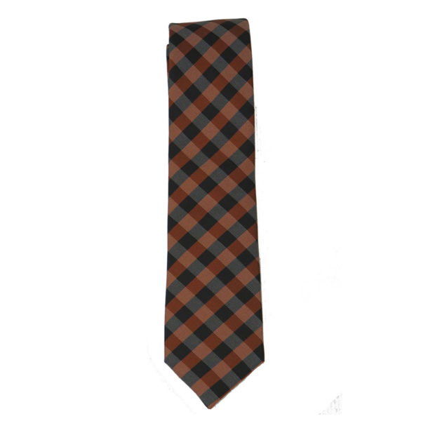 STEFANO MARIO 8 Ανδρική Γραβάτα Καφέ 3