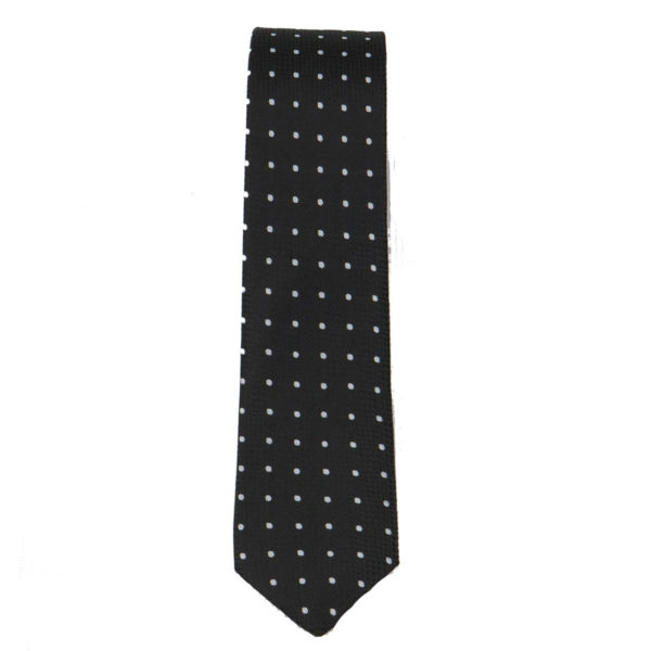 BUTTON 3 Ανδρική Γραβάτα Μαύρη 3