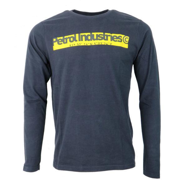 PETROL TLR652 -5091 Ανδρική Μακρυμάνικη Μπλούζα Μπλέ 3