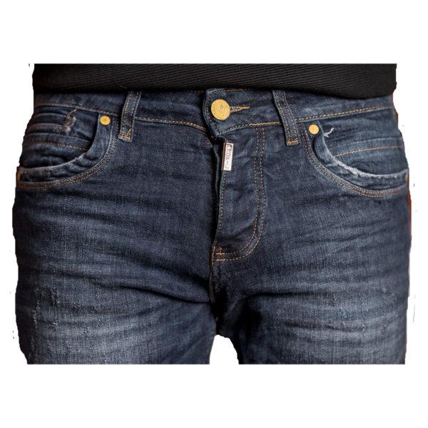 PROFIL 2044 Ανδρικό Παντελόνι Τζίν Μπλέ 4