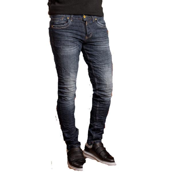 PROFIL 2044 Ανδρικό Παντελόνι Τζίν Μπλέ 3