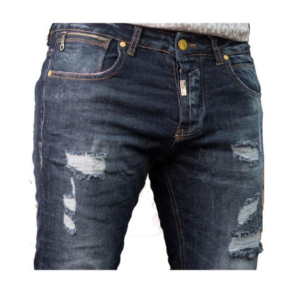 PROFIL 2048 Ανδρικό Παντελόνι Τζίν Μπλέ 4