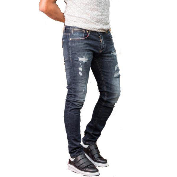PROFIL 2048 Ανδρικό Παντελόνι Τζίν Μπλέ 3